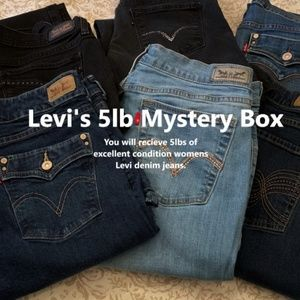 Levi Mystery Reseller Box 5lbs of Ladies Denim